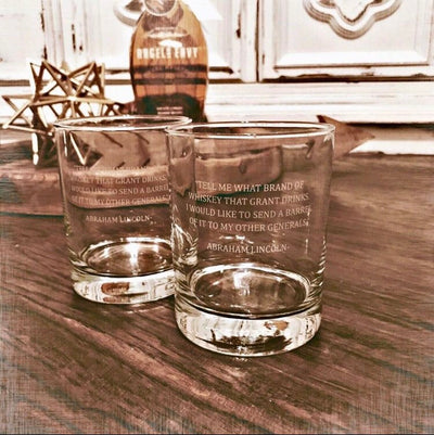 Whiskey Famous Quotes mix and match - D.O.F Whiskey/Bourbon/Scotch Set of 2 (Round or Square)