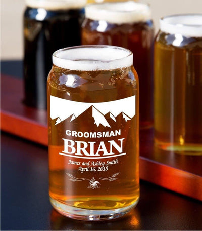 Glass Beer Can Personalized Set