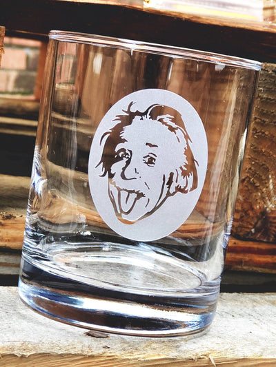 Albert Einstein Whiskey Glass Set (Silhouette)