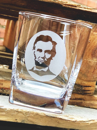 Abraham Lincoln Whiskey Glass Set - Silhouette