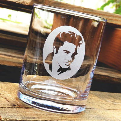 Elvis Presley (silhouette) - D.O.F Whiskey/Bourbon/Scotch Set of 2 (Round or Square)