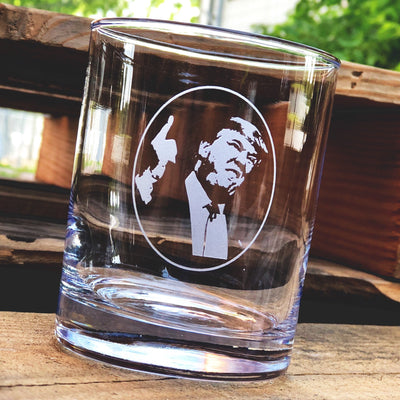 Donald Trump (silhouette) Whiskey Glass Set