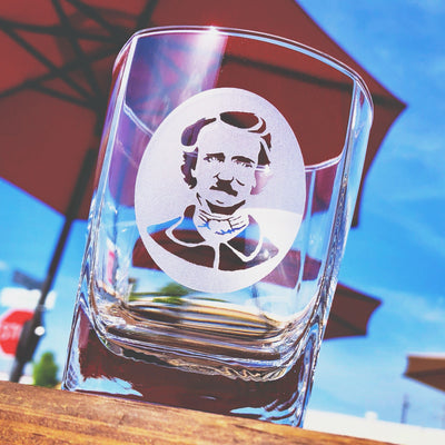 Edgar Allen Poe (silhouette) Whiskey Glass Set