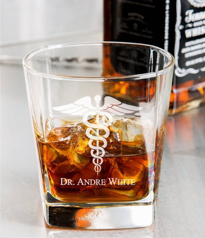 Medical Doctor Whiskey Glass Set