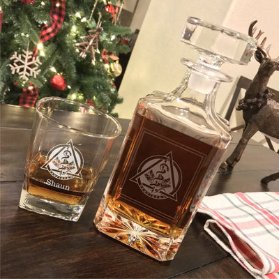 Dental Dentist Engraved Whiskey Decanter Set