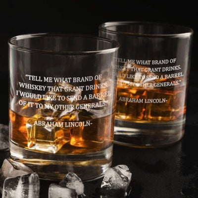 Abraham Lincoln Quote Whiskey Glasses Set