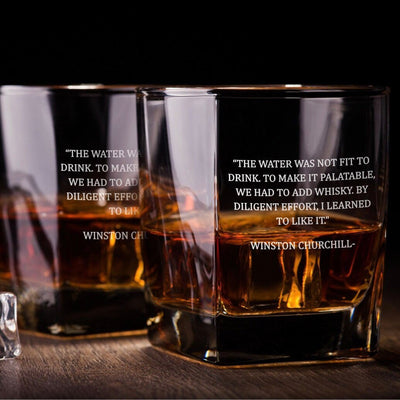 Winston Churchill Quote Whiskey Glass Set