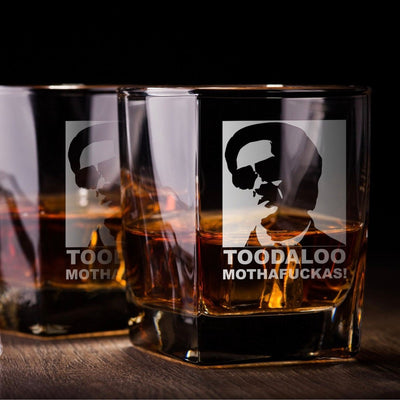 "Hangover Leslie Chow - ""Toodaloo"" - D.O.F Whiskey/Bourbon/Scotch Set of 2 (Round or Square)"