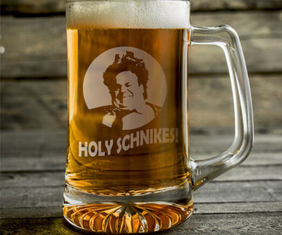 "Tommy Boy Inspired- ""Holy Schnikes!"" - Big 25 oz. Engraved Beer Mug"