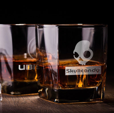 Corporate Logo / Your Logo Here Engraved Whiskey Glasses