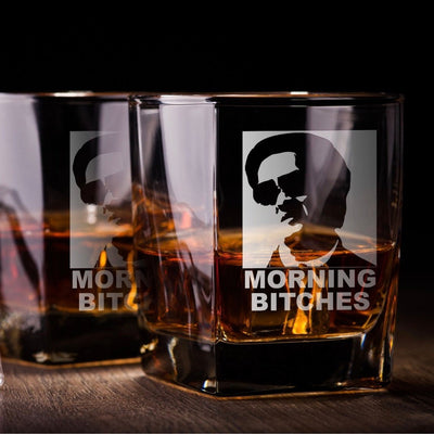 Morning Bitches! / Hangover Whiskey Glass Set