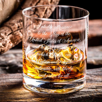 Pledge of Allegiance - D.O.F Whiskey/Bourbon/Scotch Set of 2 (Round or Square)