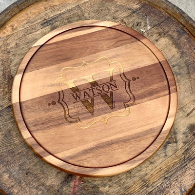 Engraved Wooden Lazy Susan 13""