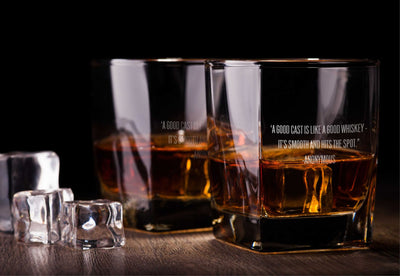 A Good Cast is Like a Good Whiskey Glass Set