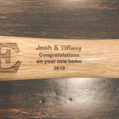 Engraved Full Size Hammer - Welcome Home Your State - Personalized (Realtor Closing Gift) New Home Owners Gifts - Laser Etched