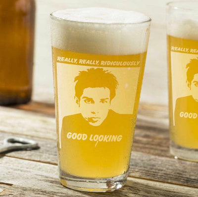 "Derek Zoolander - ""Ridiculously Good Looking"" - Pint Glass Set of 2"