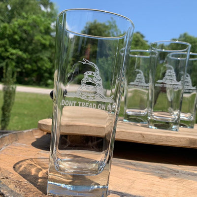 Don't Tread On Me / Engraved Glass Tumbler Set of 4