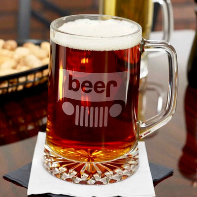 Beer Jeep Engraved Beer Mug