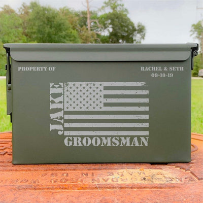 Ammo Box - Custom Engraved Personalized  .50 Cal
