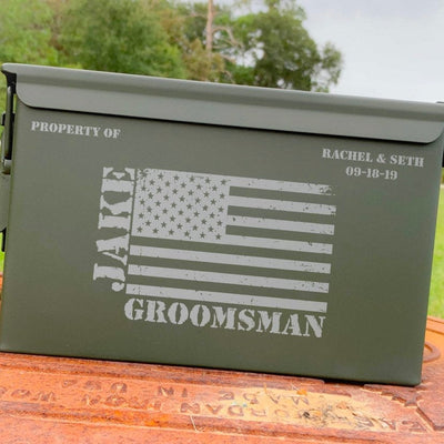 Ammo Box - Pew Pew - Custom Engraved Personalized .50 Cal Box