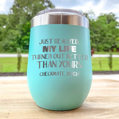 Etched Wine Tumbler - Checkmate B*tch