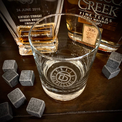 Corporate Logo / Your Logo Engraved Whiskey Glasses / Bottom