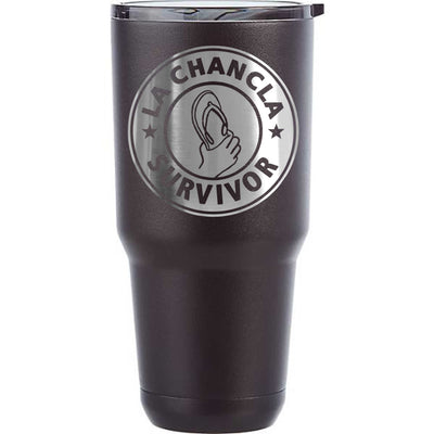 La Chancla Etched Insulated Powder Coated Tumblers - I Survived La Chancla