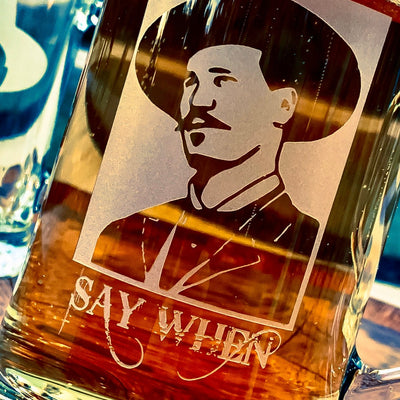 Doc Holliday (Say When) Engraved Glass Beer Mug