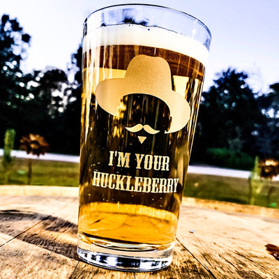 Doc Holliday / I'm your Huckleberry / Pint Glass Set of 2