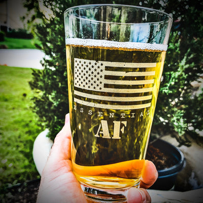 Essential AF / American Flag / Pint Glass