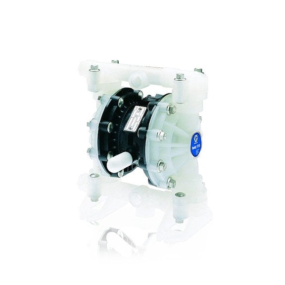 "Husky 515 Polypropylene (1/2"" BSP) Std Pump, Polypropylene Center Section, Polypropylene Seats, PTFE Balls & PTFE Diaphragm D5B911"