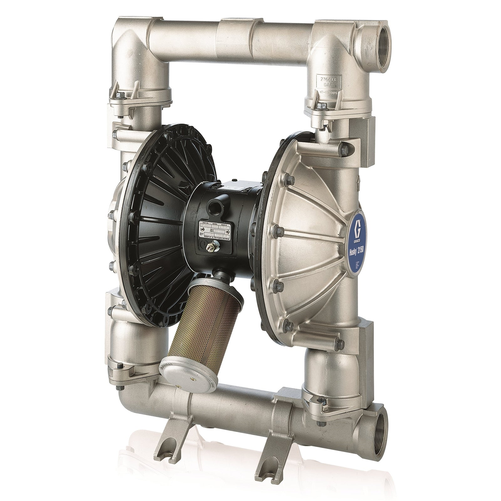 Husky™ 1590 Stainless Steel Air Operated Double Diaphragm Metal Pump DTD311