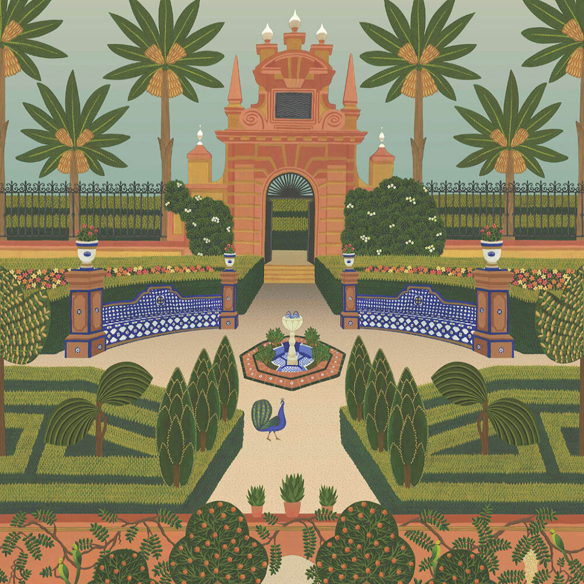 Cole & Son 'Alcazar Gardens ' Wallpaper