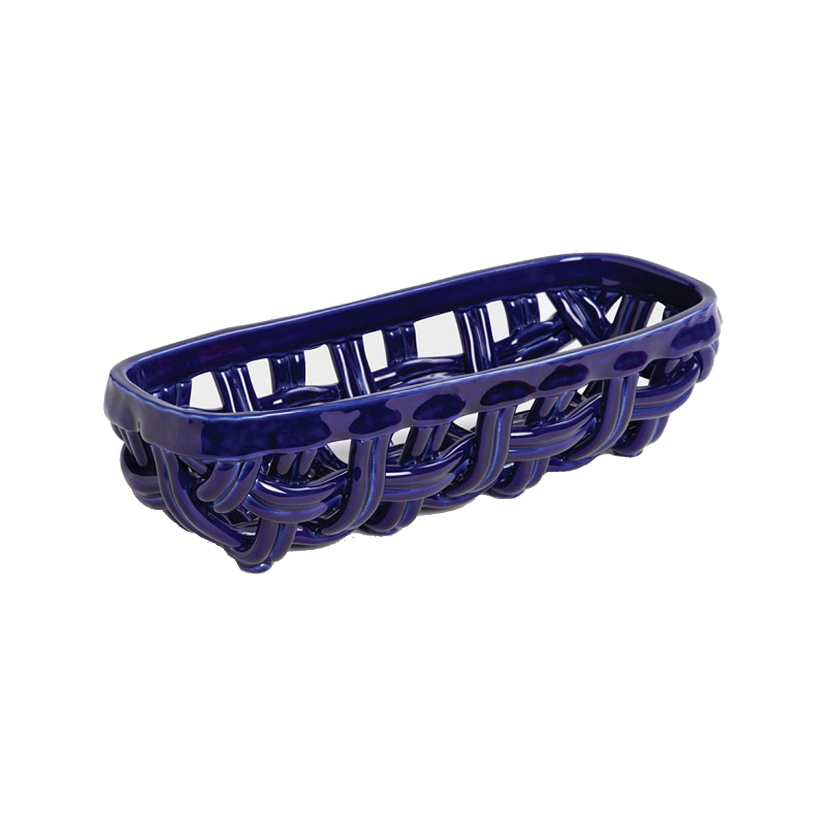 Blue Baguette Basket