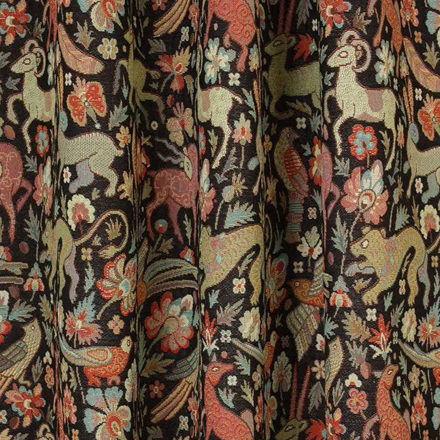 Courthouse Interiors Tapestry Fabric Black