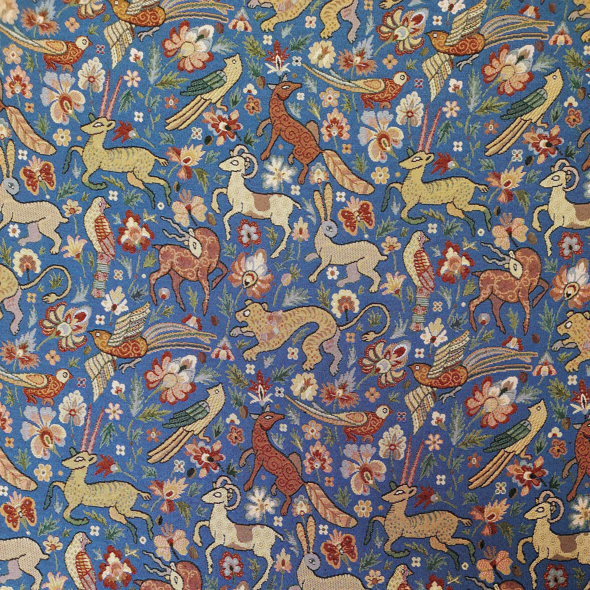 Courthouse Interiors Tapestry Fabric Blue