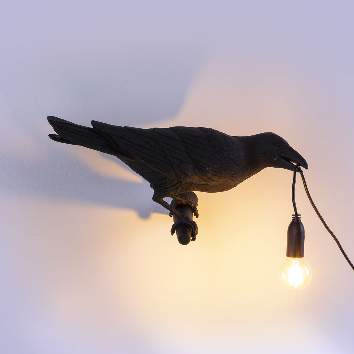 Crow Lamp Looking Right