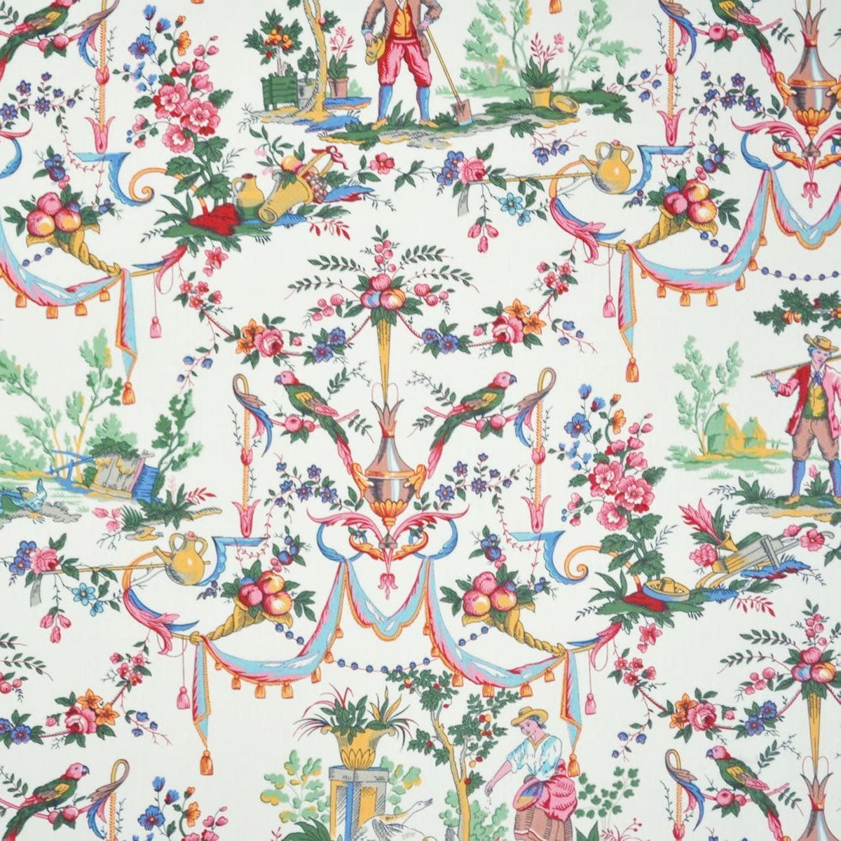 A day in the country double width Fabric