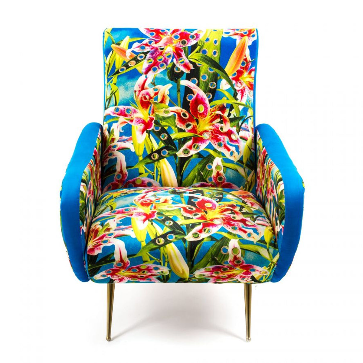 Seletti X Toiletpaper Magazine Armchair 'Flowers with holes'