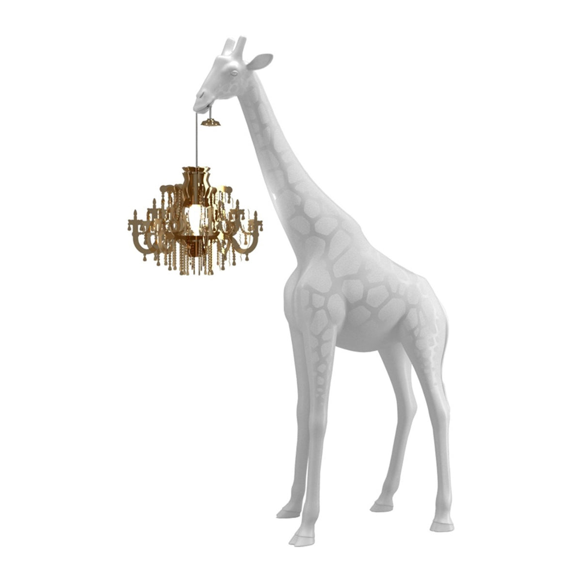 White Giraffe Chandelier