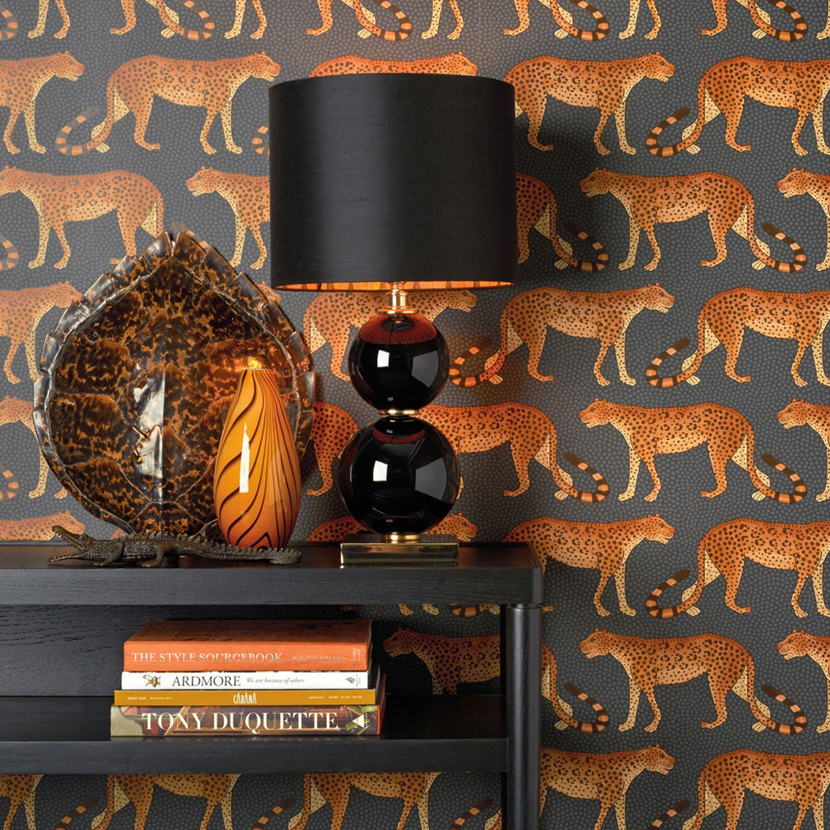 Cole & Son 'Leopard Walk Burnt Orange' Wallpaper