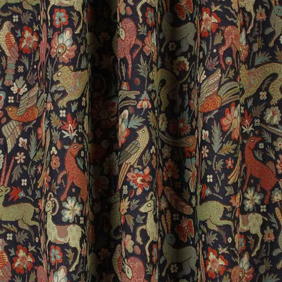 Courthouse Interiors Tapestry Fabric Midnight Blue