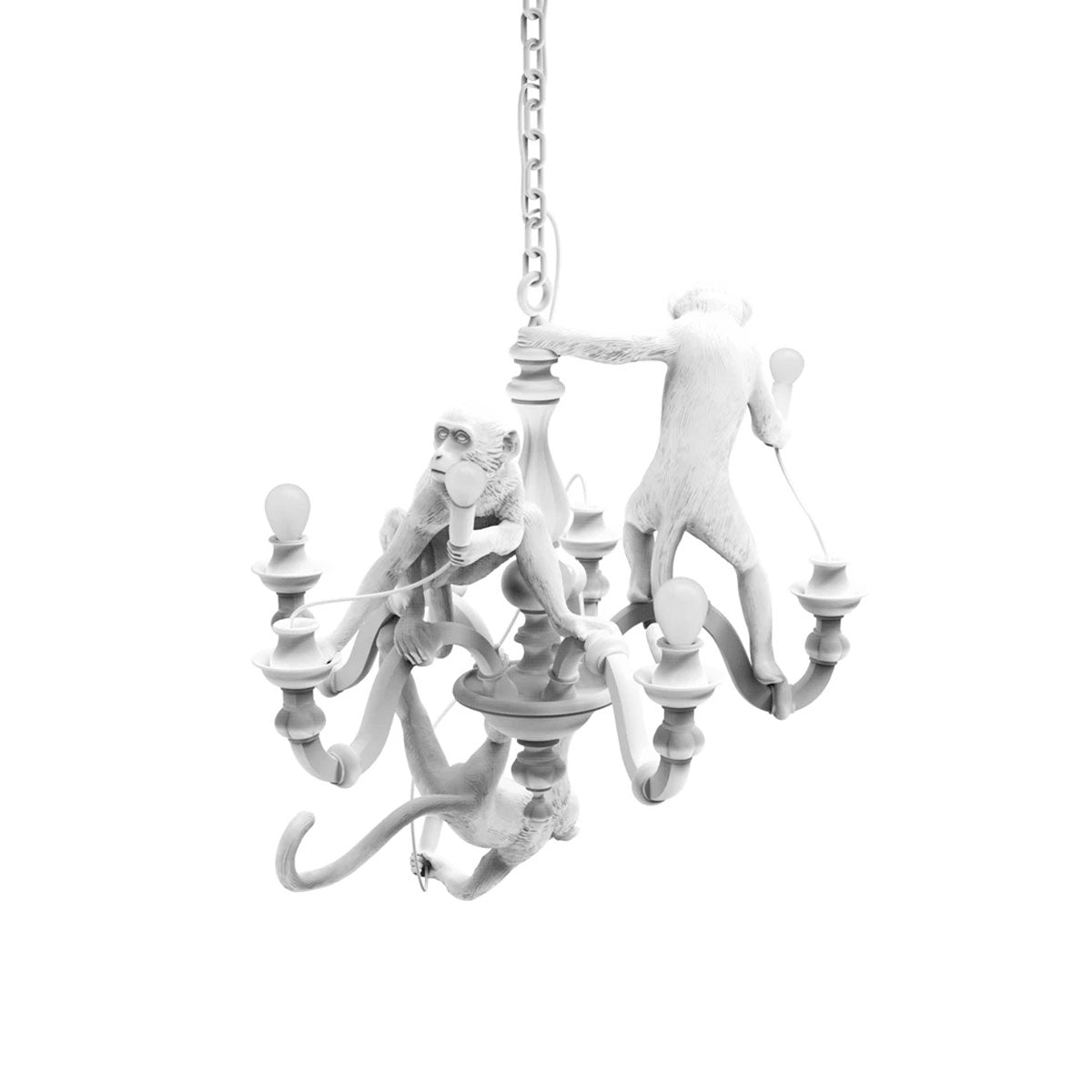 Monkey Chandelier White