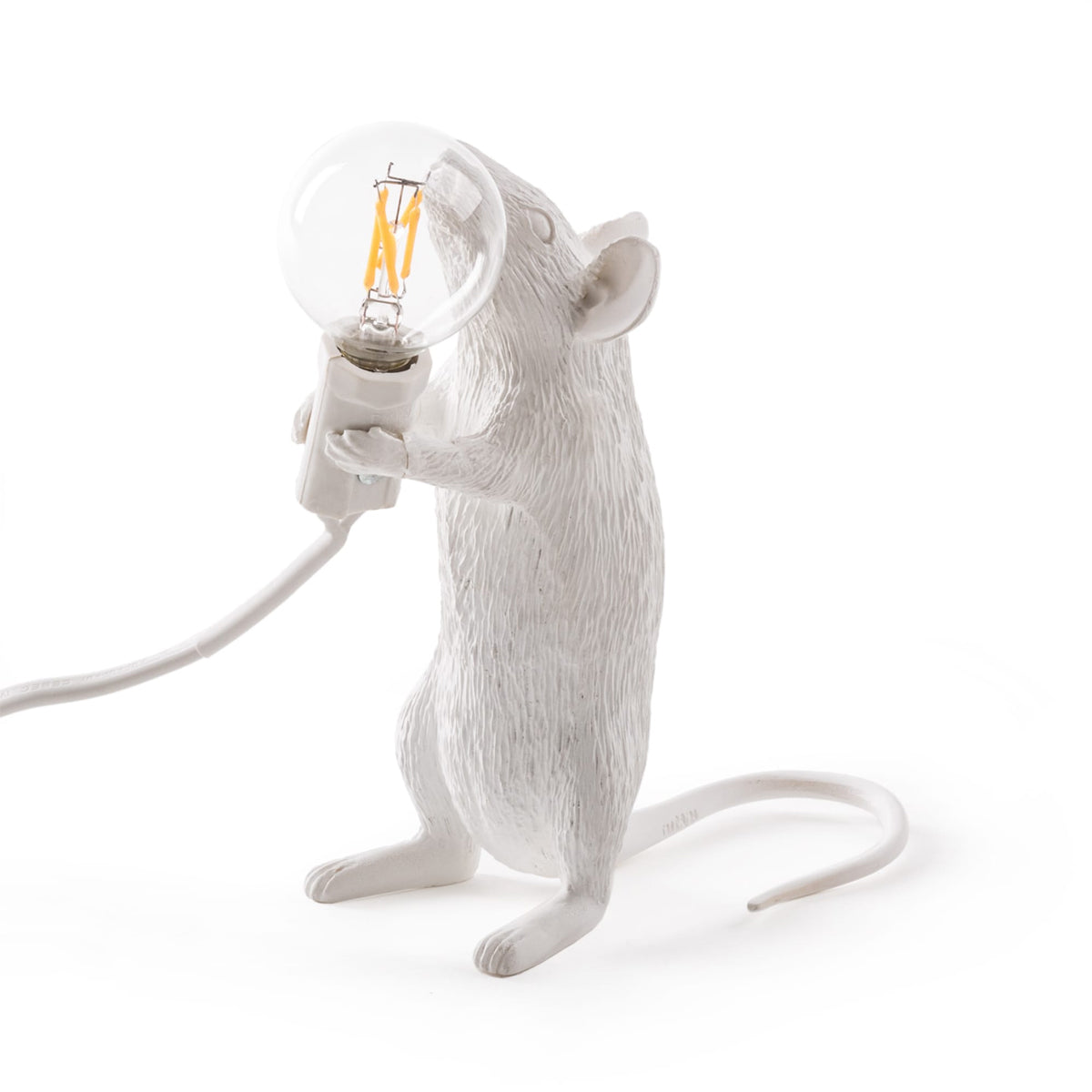 White Mouse Lamp Standing