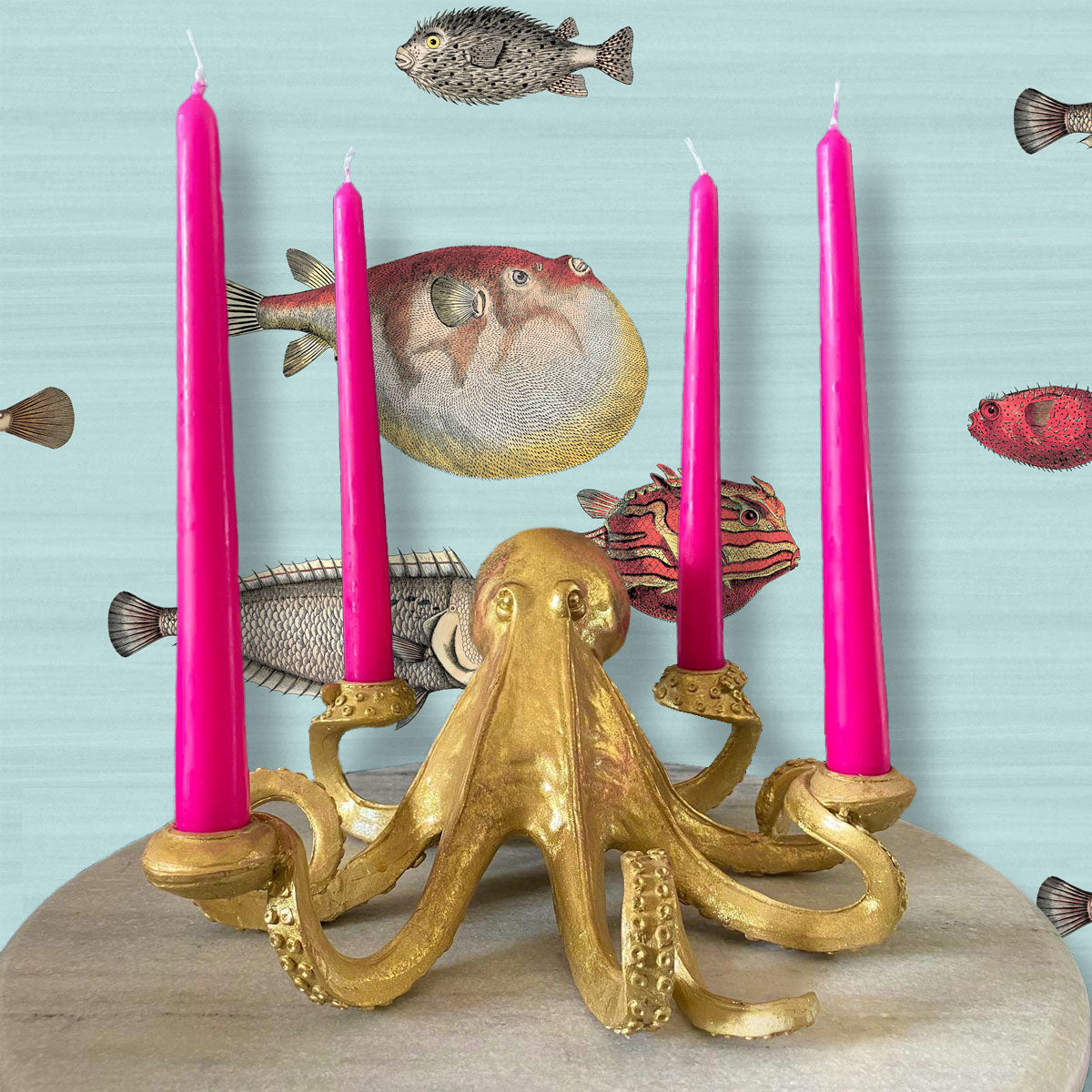 Octopus Candle Stick Holder Courthouse Interiors