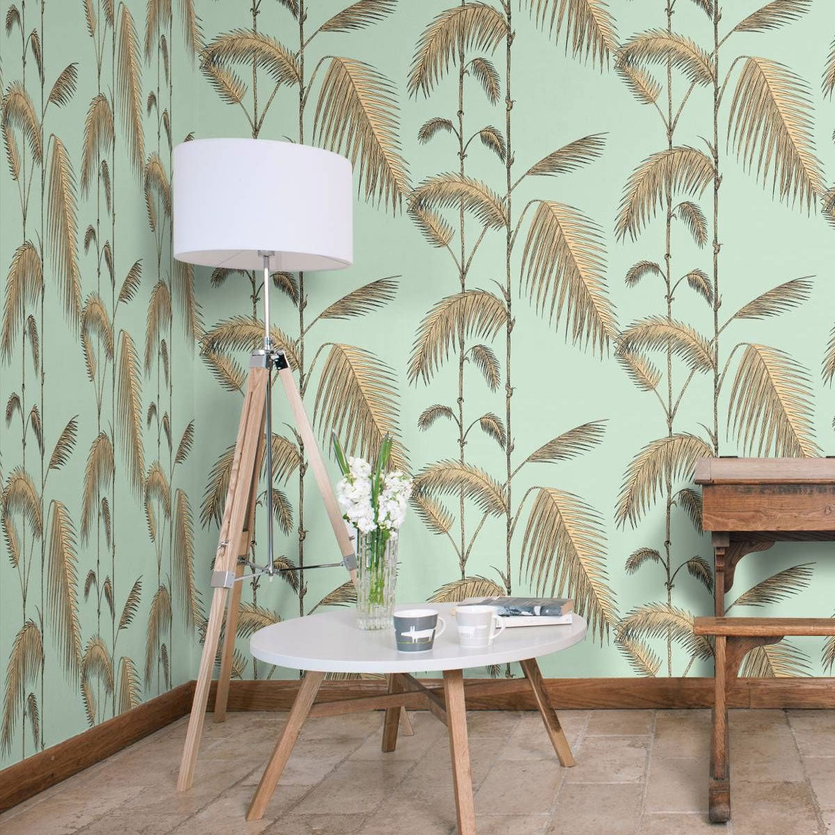 Cole & Son 'Palm Leaves Mint' Wallpaper