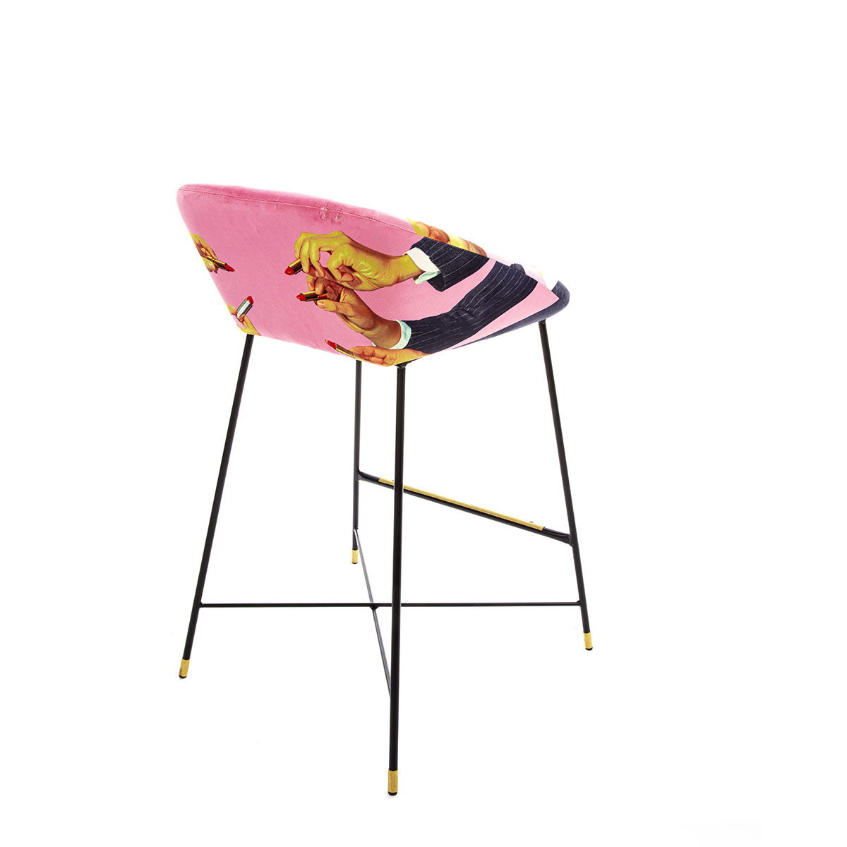 Seletti X Toiletpaper Magazine High Stool Pink Lipsticks