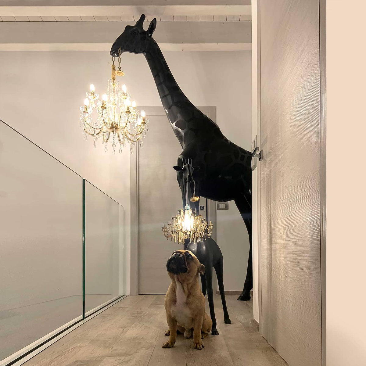 Giraffe Chandelier XL Black