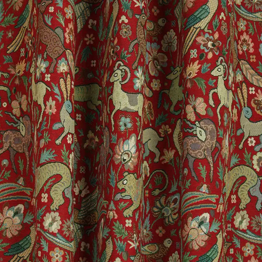 Courthouse Interiors Tapestry Fabric Red