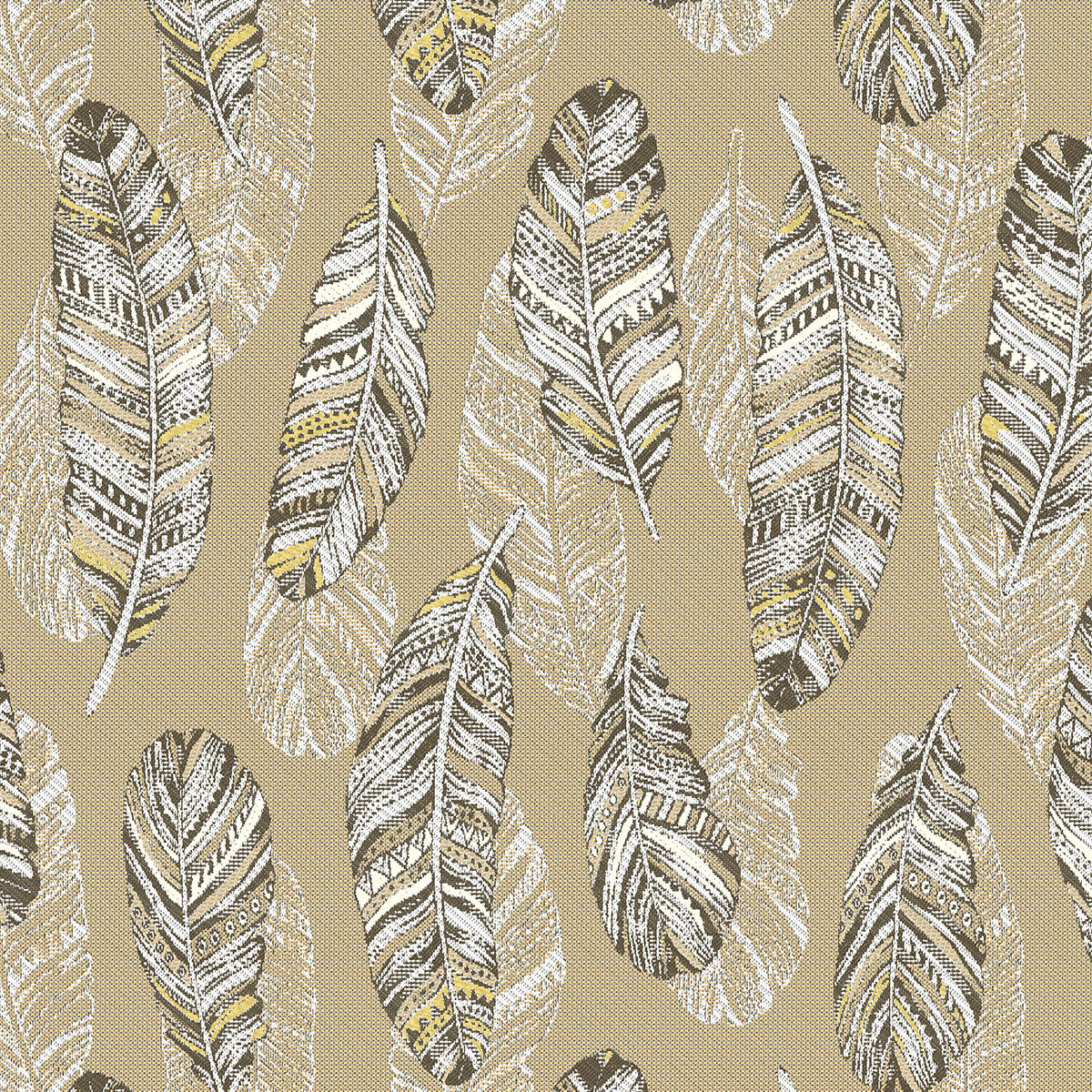 Golden Feather Fabric